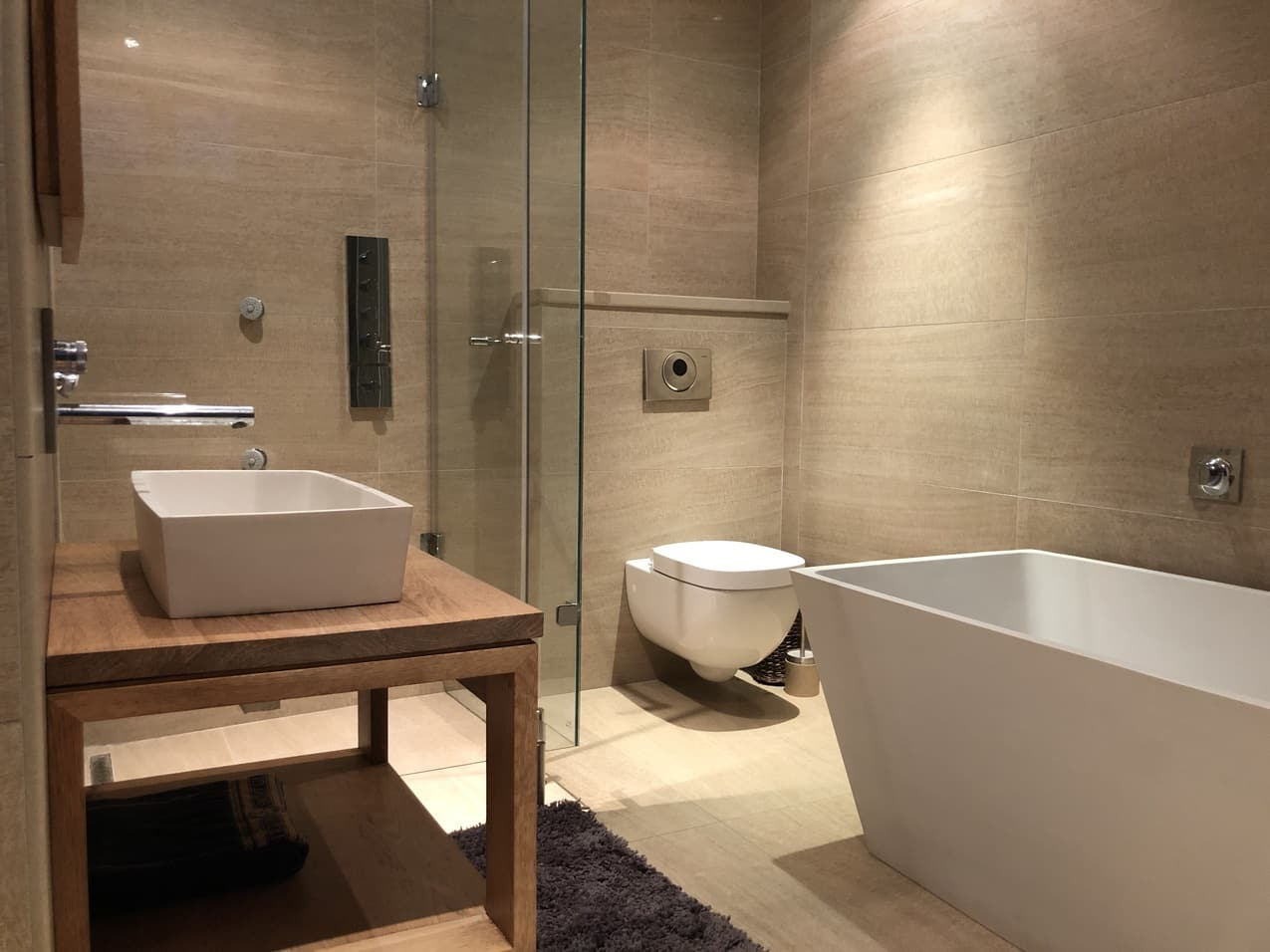 Ballito Beachfront Cottage Coral Bathroom 5JPG